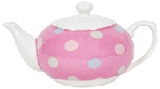 Large Teapot - Spotty Candy Pink