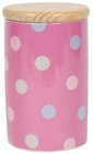 Storage Jar - Spotty Candy Pink