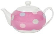 Small Teapot - Spotty Candy Pink