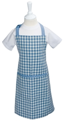 Children's Aprons Full Apron Blue Red