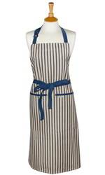 Kolaba Stripe Full Apron Dark Blue
