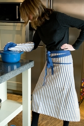 Kolaba Stripe Half Apron Light Blue